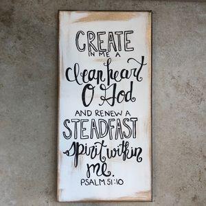 3/$20! Handmade bible verse wall art